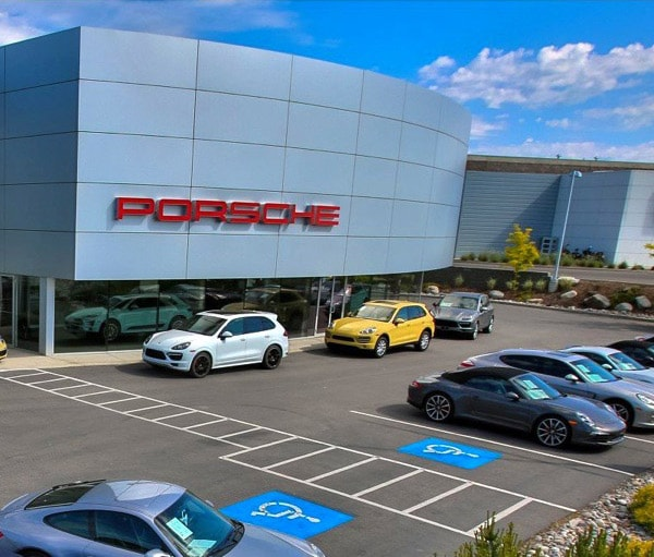 Porsche dealership photo